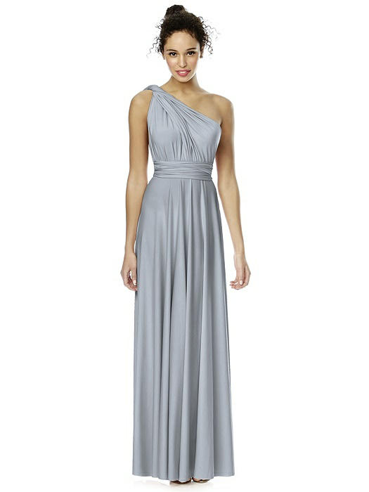 Convertible Wrap Dress: The TWIST Wrap Dress Long - Platinum ...