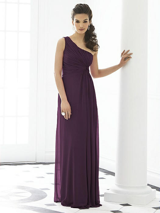 After Six Bridesmaid Dress 6651 - Aubergine  The Dessy Group