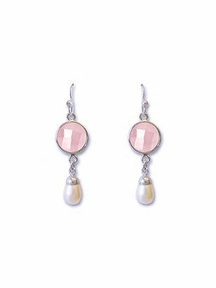 Pearly Rose Chandelier Earrings