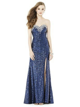 After Six Midnight Blue Long Prom Dress Keira