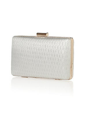 Gem Metallic Brocade Minaudiere