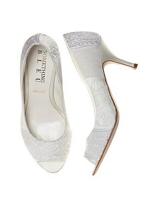 Confetti Lace and Jacquard Bridal Pump On Sale