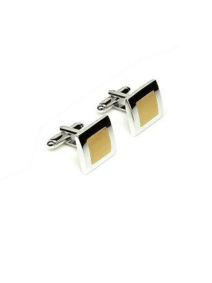 Men's Color Block Enamel Cufflinks