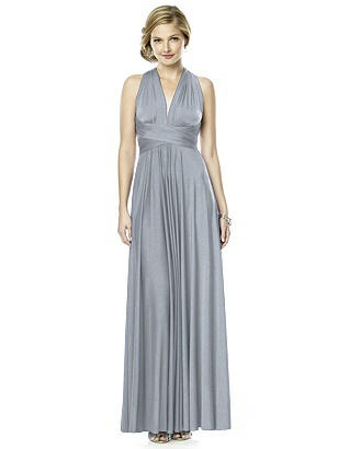 Shimmer Jersey Full Length Twist Dress