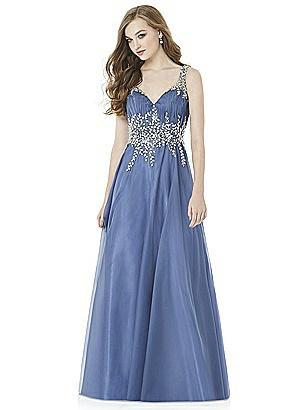Larkspur blue bridesmaid dresses