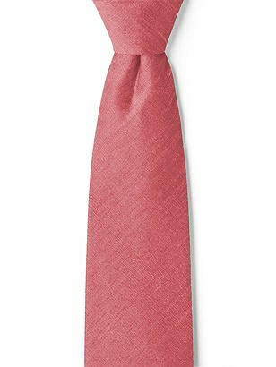 "Boy's 14"" Dupioni Zip Neck Tie"