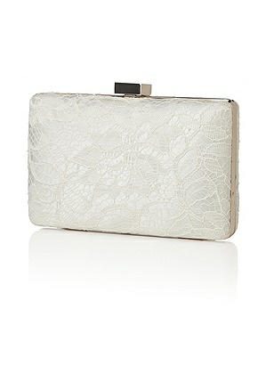 Embroidered Lace Bridal Clutch