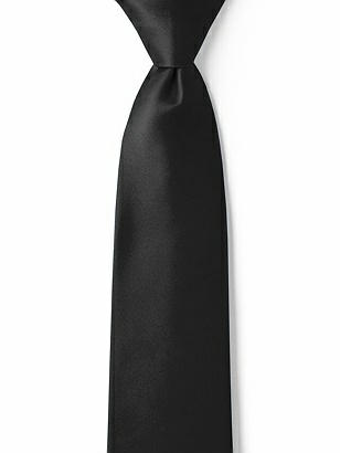"Boy's 14"" Matte Satin Zip Neck Tie"