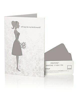 PANTONE WEDDING™ Will You Be My Bridesmaid Card