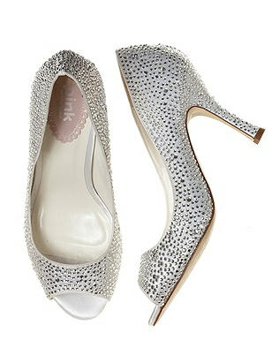 Celebrate Open Toe Crystal Bridal Pump