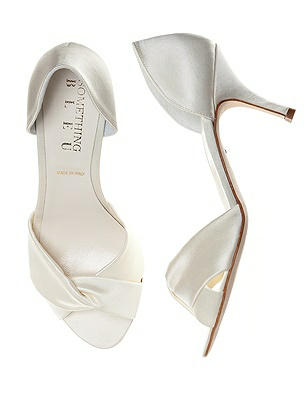 Pluto Satin Wrap Peep Toe Bridal Pump