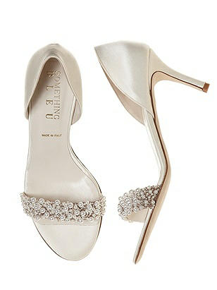 Cappy Pearl d'Orsay Ivory Satin Bridal Shoes On Sale