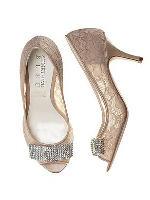 Coco Nude Lace Bridal Peep Toe Pump On Sale