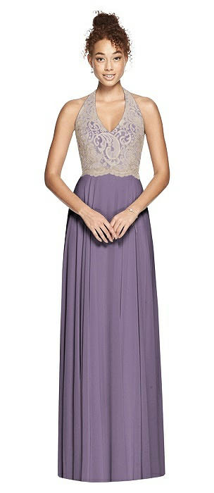 Studio Design Collection 4512 Full Length Halter Top Bridesmaid Dress