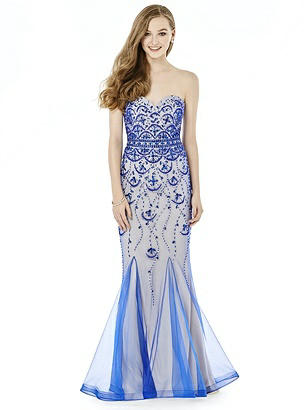 After Six Prom Dress: Kathleen, Sapphire Blue