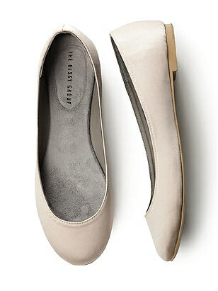 Simple Satin Ballet Wedding Flats