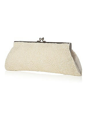 Scroll Beaded Bridal Clutch