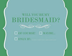 Will You Be My Bridesmaid Card - Checkbox