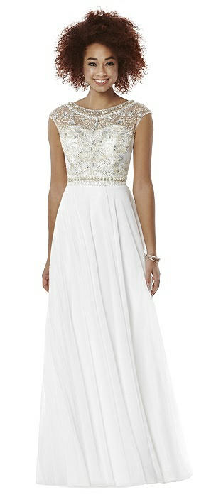 bridesmaid dresses with cap sleeves