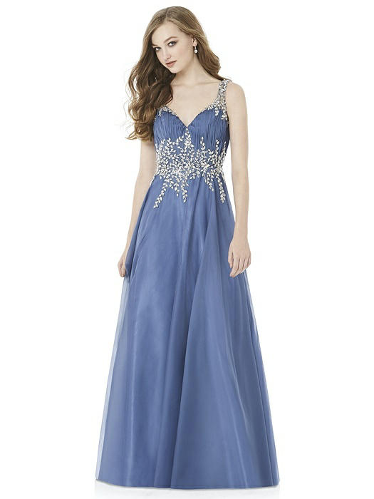 Group USA Prom Dresses 2018 Blue and White