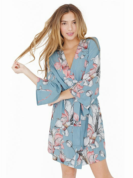 Knee Length Robe in Mermaid Moon