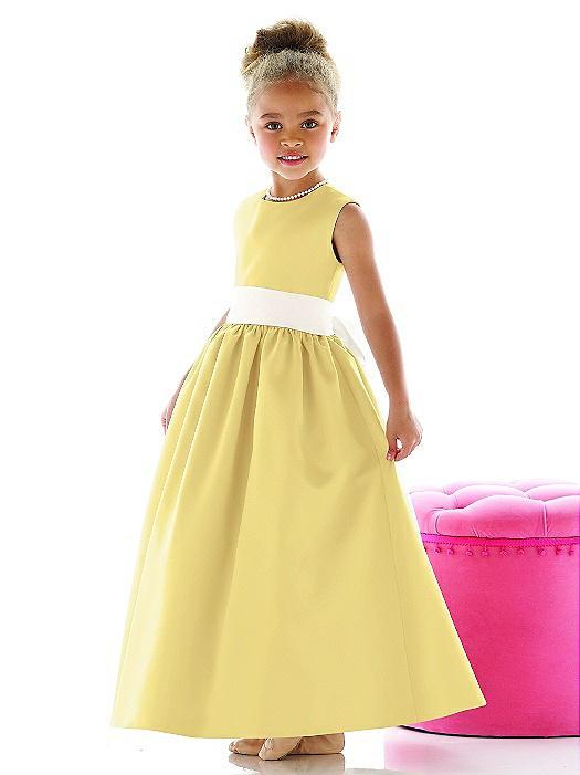 Sunflower flower girl dresses the dessy group flower girl dress fl4021 mightylinksfo