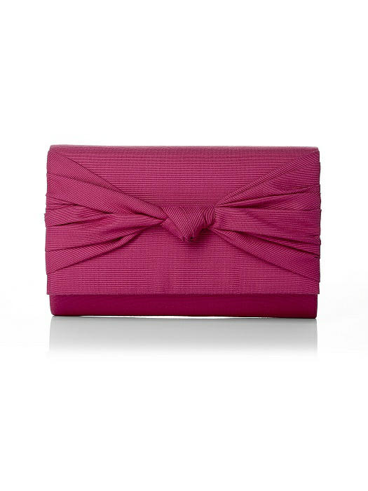Silk Faille Knot Clutch