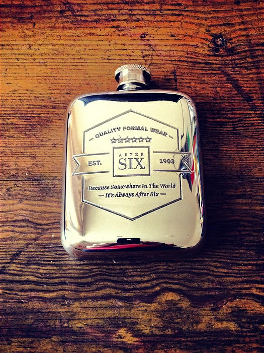After Six Limited Edition Pewter Flask