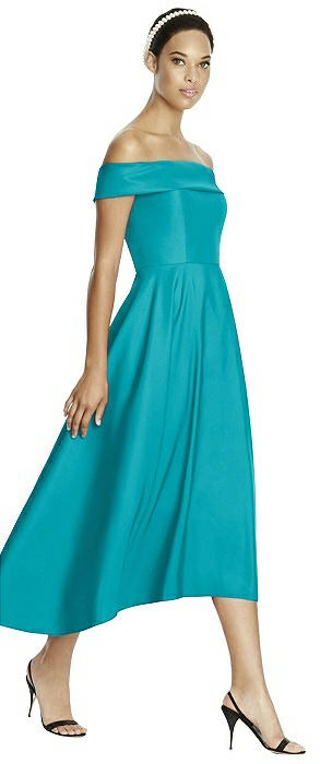 Studio Design Collection 4513 Midi Length Strapless Bridesmaid Dress