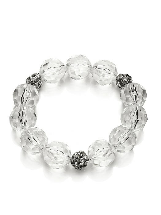 Faceted Clear Resin Bauble Bracelet