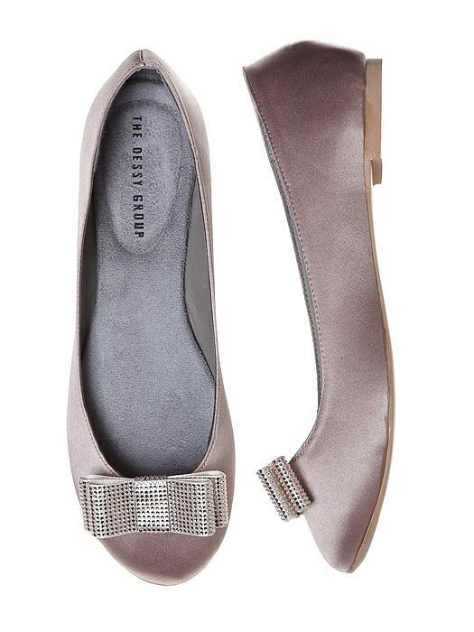 Metallic Ribbon Rhinestone Shoe Clip