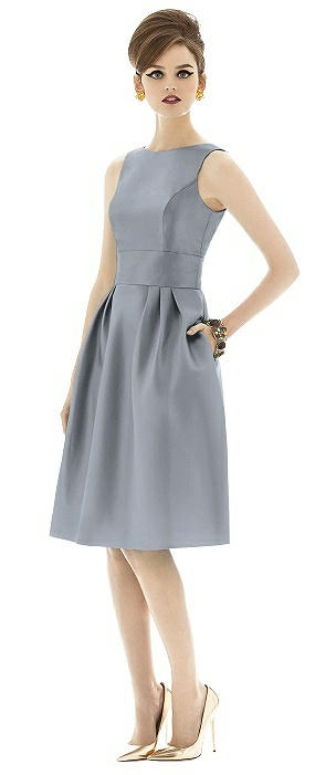 Alfred Sung Open Back Cocktail Dress D660