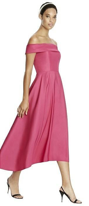 Studio Design 4513 Midi Off-the-Shoulder Bridesmaid Dress