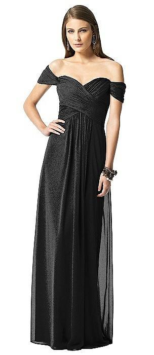 Dessy Shimmer Bridesmaid Dress 2844LS