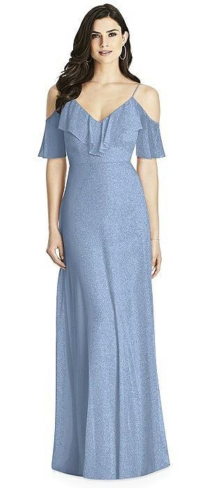 Dessy Shimmer Bridesmaid Dress 3020LS