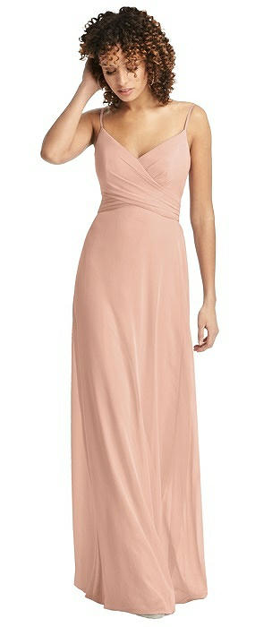 Chiffon Spaghetti Strap V-Neck Dress