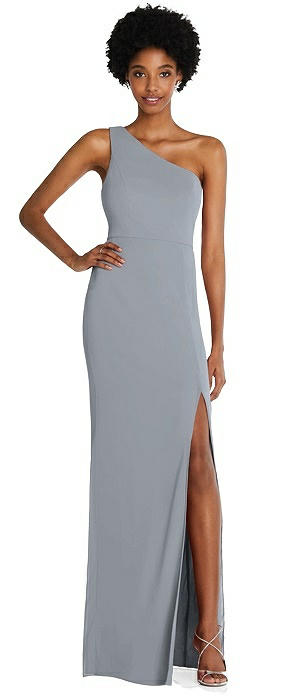 Addison One-Shoulder Chiffon Trumpet Gown