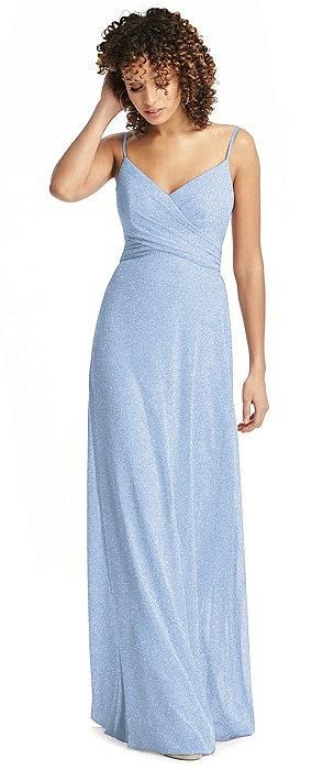 Shimmer Faux Wrap Chiffon Dress
