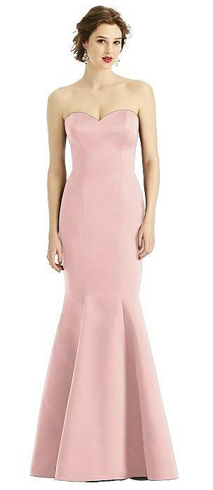 Matte Satin Full length Tumpet Gown