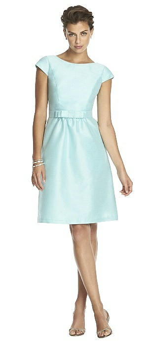 Alfred Sung Cap Sleeve Cocktail Dress D568 - Closeout