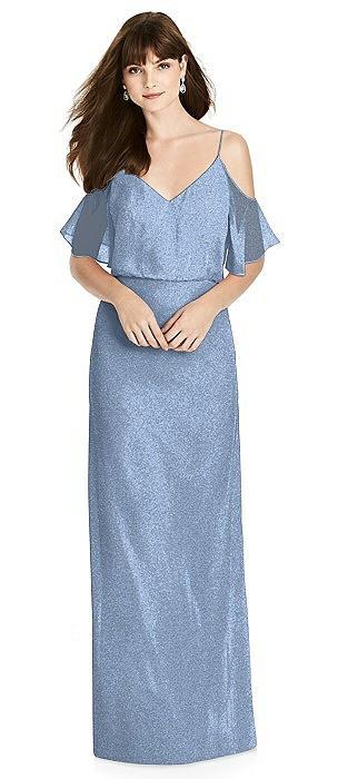 After Six Shimmer Bridesmaid Dress 6781LS