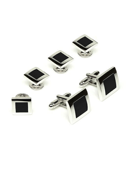 Color Block Cufflinks and Tuxedo Studs Set by After Six