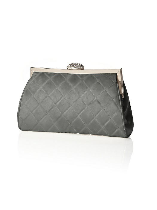 Quilted Olivia Clutch with Jeweled Clasp