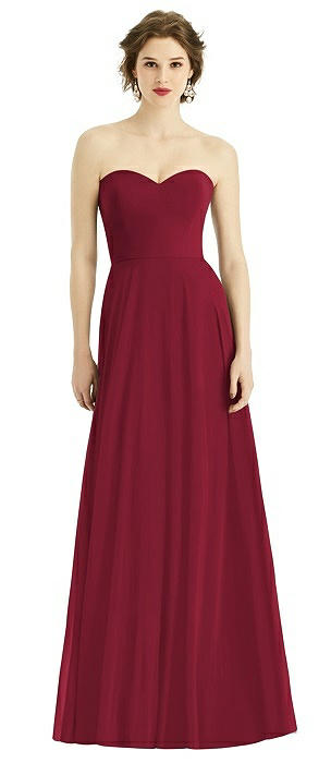 Strapless Sweetheart Chiffon Gown with Optional Spaghetti Straps