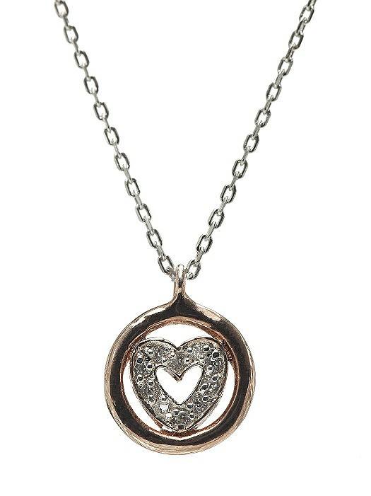 CZ Heart Charm Necklace