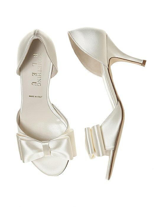 Cinnamon BowTie d'Orsay Bridal Shoe