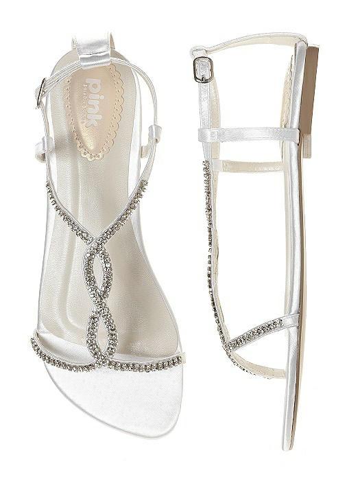 Satin & Crystal Dyeable Bridal Sandal