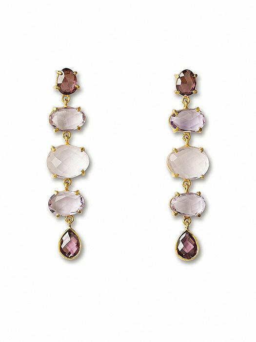 Gold Plate Willa Chandelier Earrings