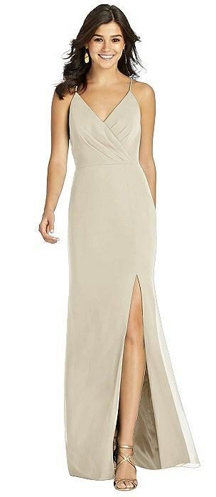 Wrap Bodice Criss Cross Back Mermaid Gown