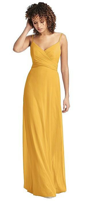 Chiffon Spaghetti Strap V-Neck Dress